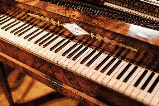 Fortepiano from the collection of old musical instruments