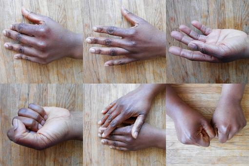 6 Photos of hands of people from the Congo